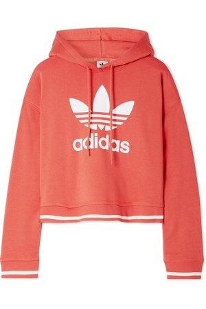 adidas Originals | Active Icons printed cotton-blend jersey hoodie | NET-A-PORTER.COM