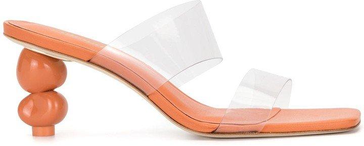 Transparent Strap Heeled Sandals