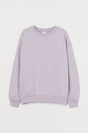 Cotton-blend Sweatshirt - Purple