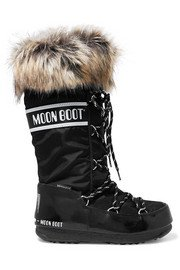 Moon Boot | Shell and rubber snow boots | NET-A-PORTER.COM