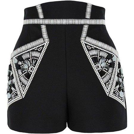 Sass and Bide high waisted embellished shorts
