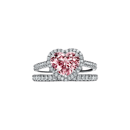 heart pink diamond engagement ring