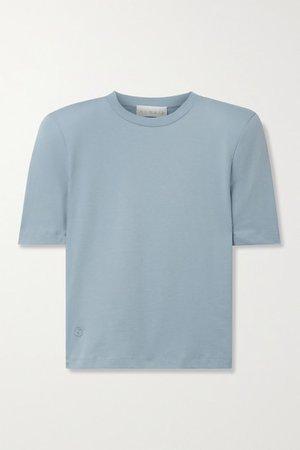 Xenia Organic Cotton-jersey T-shirt - Light blue