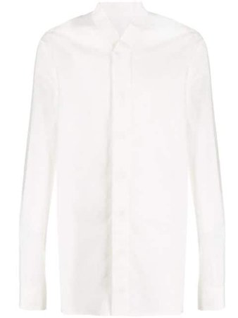 Rick Owens Concealed-Placket Shirt RU20S7298P White | Farfetch