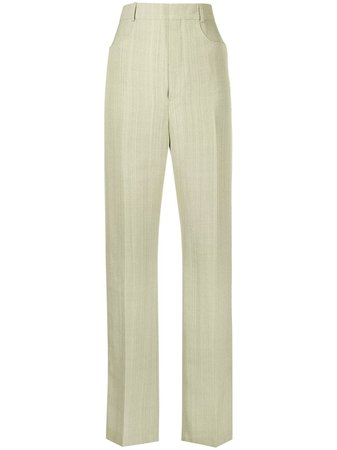 Shop green Jacquemus Sauge tailored trousers with Express Delivery - Farfetch
