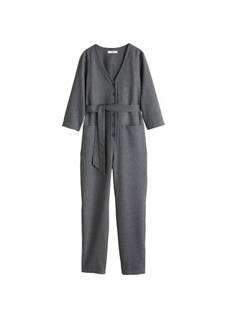 MANGO Long check jumpsuit