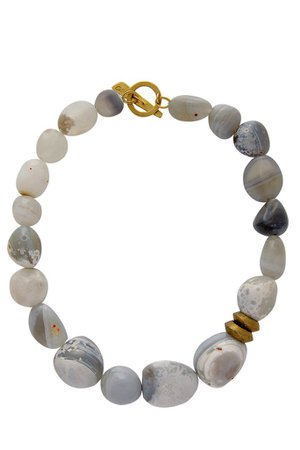 BY THE STONES PEBBLES Grey Botswana Necklace – PRET-A-BEAUTE.COM