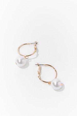 Faux Pearl Hoop Earrings | Forever 21