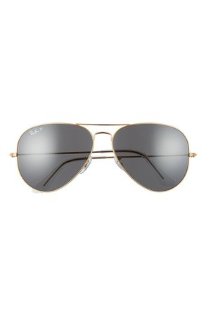 Ray-Ban Original 62mm Oversize Polarized Aviator Sunglasses | Nordstrom