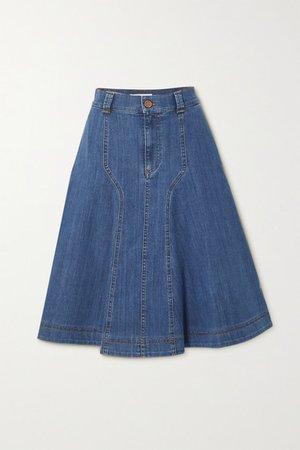 Denim Skirt - Mid denim