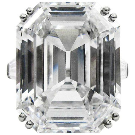 Harry Winston Magnificent 22.91 Carat GIA Cert. D Color Emerald Cut Diamond Ring | $4,450,000