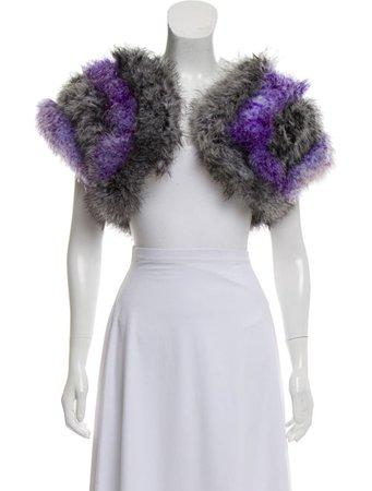 Anna Sui Sleeveless Feather Bolero - Clothing - ANA25262   The RealReal