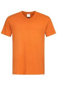 Plain ORANGE Cotton Mens Mans Short Sleeve Vee V-Neck Tees Tee T-Shirt Tshirt | eBay