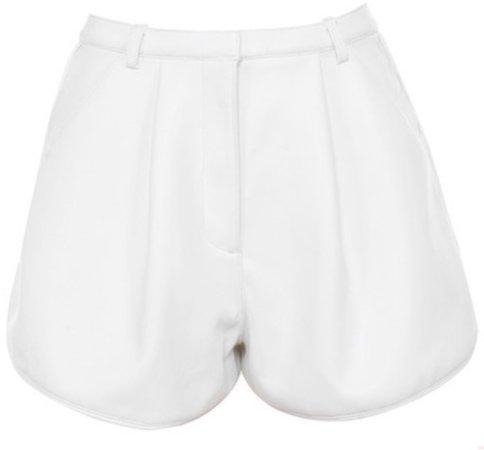 white leather shorts house of cb