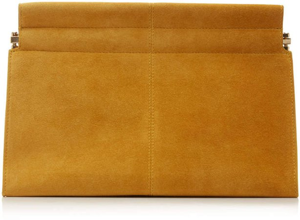 Co Suede Leather Clutch