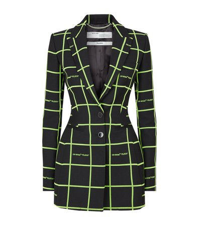 Neon Green and Black Blazer