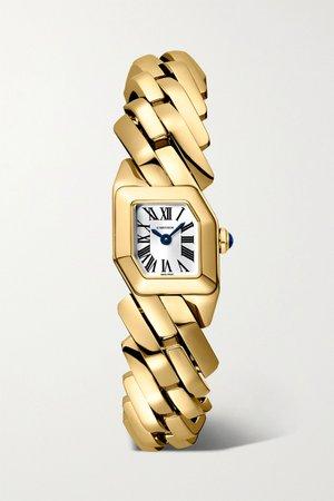 Gold Maillon de Cartier 16mm 18-karat gold watch   Cartier   NET-A-PORTER