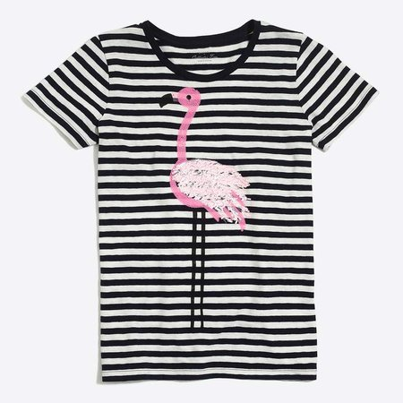 Flamingo striped collector T-shirt