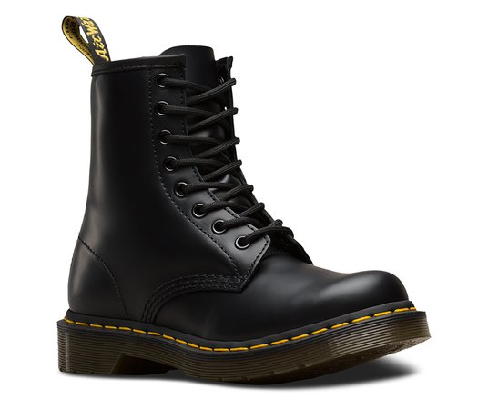 WOMEN'S 1460 SMOOTH | Black and White Shoes & Boots | The Official US Dr Martens Store