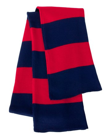 Wholesale Sportsman SP02 | Buy Rugby Striped Knit Scarf - VeeTrends.com