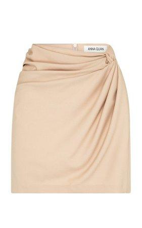 Emelia Draped Twist-Front Mini Skirt By Anna Quan | Moda Operandi