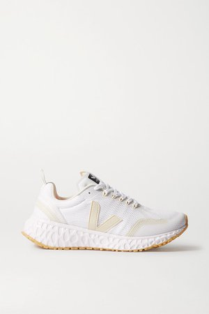 Condor Rubber-trimmed Mesh Sneakers - White