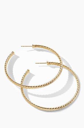 David Yurman Cable Spiral Hoop Earrings | Nordstrom