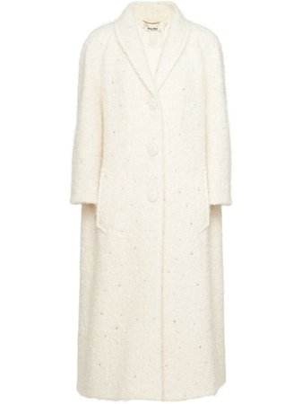 Miu Miu, Crystal-Embellished Oversized Coat