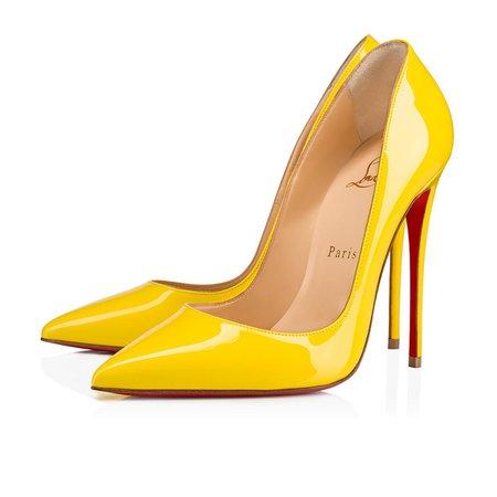 So Kate Patent 120 Yellow Queen Patent calfskin - Women Shoes - Christian Louboutin
