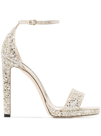 Jimmy Choo Misty 85mm Glitter Sandals