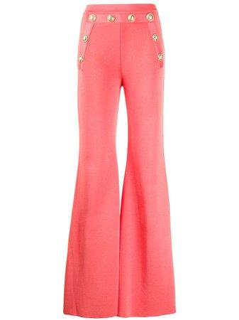 Orange Balmain High-Waisted Trousers | Farfetch.com