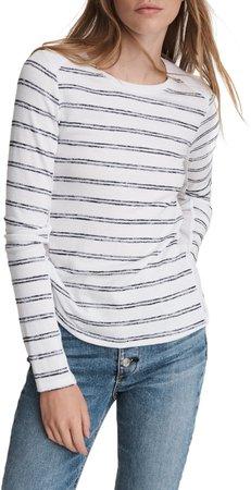 The Knit Summer Stripe Long Sleeve T-Shirt