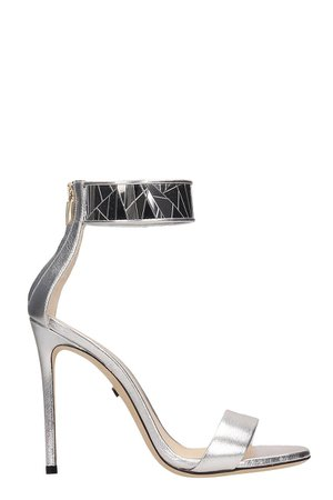 Grey Mer Silver Metal Sandals