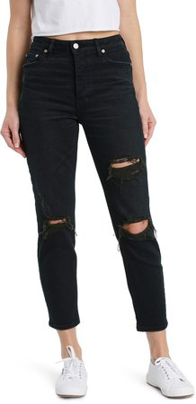 The Original Ripped High Waist Ankle Skinny Jeans