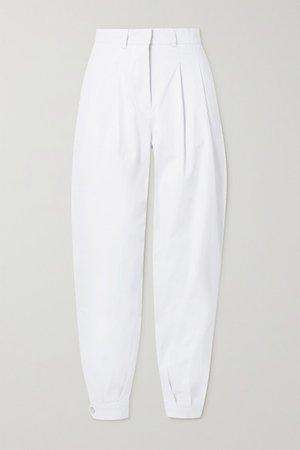 Al Boleo Cotton-blend Twill Tapered Pants - White