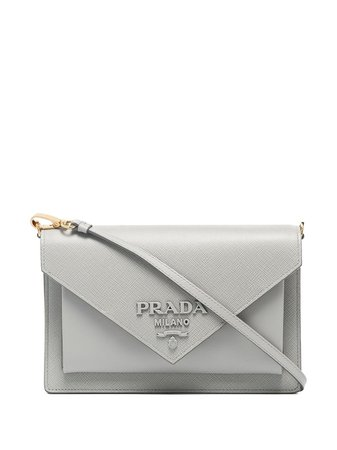 Prada Envelope Leather Cross Body Bag - Farfetch