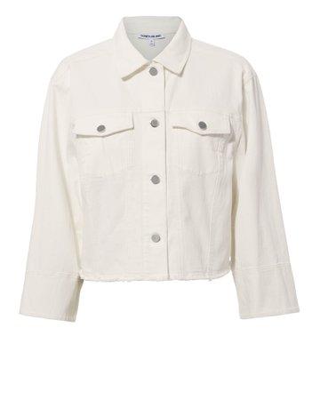 Branson White Denim Jacket