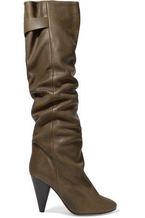 ISABEL MARANT Lacine leather knee boots