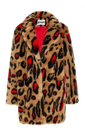 Apparis Ness Mid Length Cheetah Coat