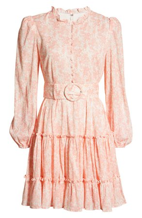 Rachel Parcel Tiered Long Sleeve Fit & Flare Minidress (Nordstrom Exclusive)   Nordstrom