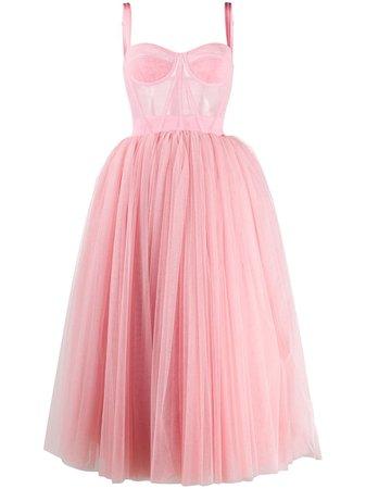 Dolce & Gabbana Tulle Midi Dress F6G4XTFLEAA Pink | Farfetch
