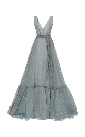 Cotton-Blend Organdy Ball Gown by Luisa Beccaria | Moda Operandi