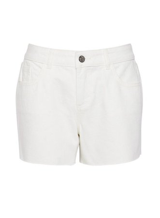 Petite White Boy Shorts | Dorothy Perkins white