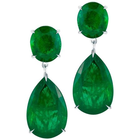 Emerald Hollywood Earring by Takat For Sale at 1stDibs