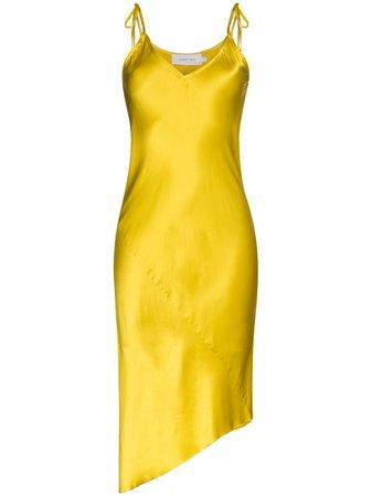 Marques'almeida Asymmetric Silk Slip Dress Ss20 | Farfetch.com