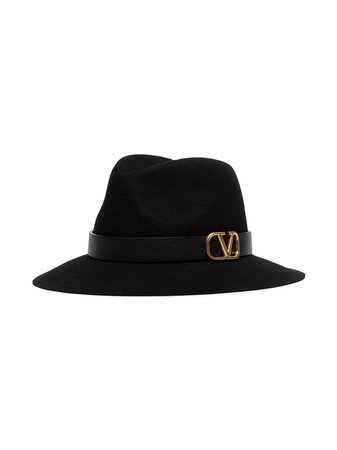 Valentino V-ring Fedora Hat - Farfetch