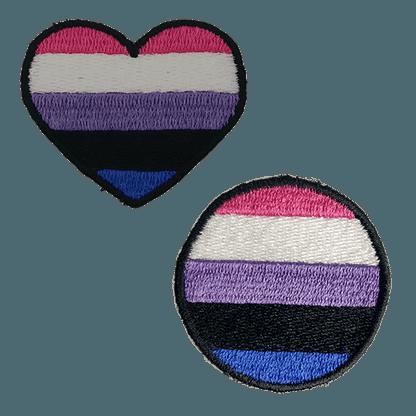 Gender Fluid Pride Patches – Lavender Creations