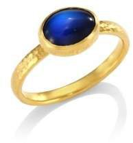 Indian Gold Sapphire Ring