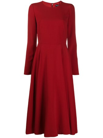 Dolce & Gabbana long-sleeved Crepe Dress - Farfetch
