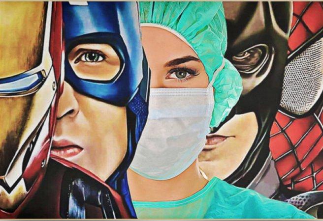 nurse are super hero poster - bucktee